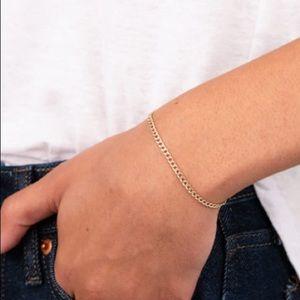 EUC Mejuri 14k gold curb chain bracelet!